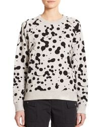 Marc By Marc Jacobs Cotton Splatter-Print Sweatshirt gray - Lyst