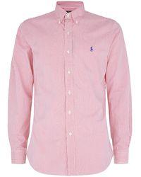 Polo Ralph Lauren Slim Fit Striped Shirt - Lyst