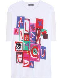 Alexander McQueen Cotton T-Shirt - Lyst