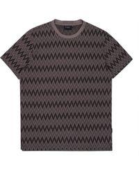 Paul Smith | Men's Grey Zig-zag Jacquard Stripe Cotton T-shirt | Lyst