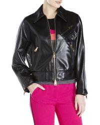 Sonia Rykiel Black Faux Leather Jacket - Lyst