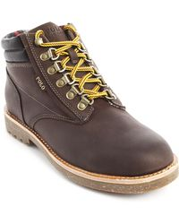 Polo Ralph Lauren Meltham Brown Leather Mountain Boots brown - Lyst