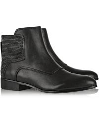 Pour La Victoire Keon Studded Leather Ankle Boots - Lyst