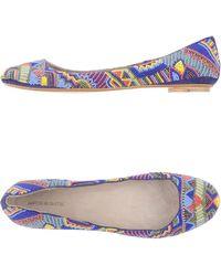 Antik Batik Ballet Flats blue - Lyst