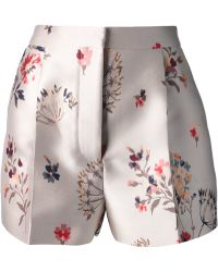 Stella McCartney Floral Print Shorts - Lyst