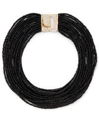Saks Fifth Avenue Tiered Bead Bib Necklace - Lyst