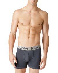 Calvin Klein Steel Microfiber Boxer Briefs - Lyst