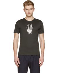 Paul Smith Black Cotton X_Ray Hand T_Shirt - Lyst