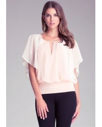 Bebe Full Sleeve Top - Lyst