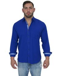 Giorgio Bellini - Lyon Linen Blend Button Front Shirt - Lyst