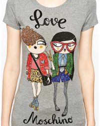 Love Moschino Gossip Girls Short Sleeve T-shirt - Lyst