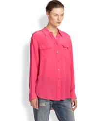 Equipment Signature Silk Shirt - Lyst