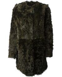DROMe Fur Coat - Lyst
