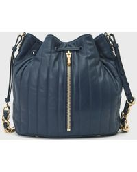Elizabeth And James Quilted Cynnie Bucket Bag blue - Lyst
