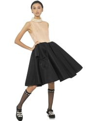 Simone Rocha Silk Organza Top Neoprene Skirt Dress - Lyst