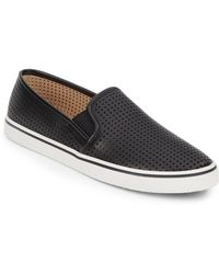 DV by Dolce Vita Gibsin Perforated Faux Leather Slip-On Sneakers - Lyst