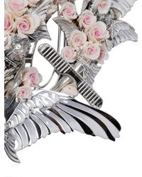 Heaven Tanudiredja - White Gold & Blush Rose Necklace - Lyst