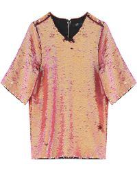 Markus Lupfer Sequin T-Shirt - Lyst