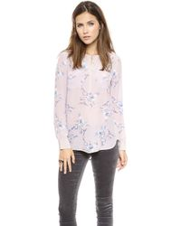 Rebecca Taylor Grapevine Double Pocket Top  Nougat - Lyst