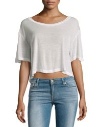 F.t.b By Fade To Blue - Short-sleeve Cropped Tee - Lyst