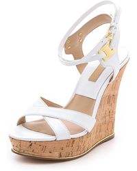 Michael Kors Collection Shana High Cork Wedges - Lyst