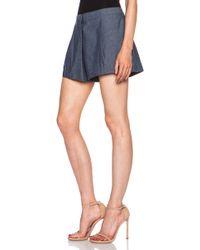 Elle Sasson Rey Cotton Shorts - Lyst