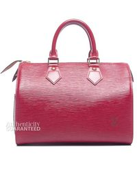 Louis Vuitton Preowned Carmine Red Epi Leather Speedy 25 Bag - Lyst