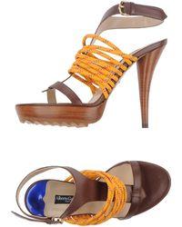 Alberto Guardiani Platform Sandals - Lyst