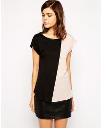 Oasis Color Block Tee - Lyst