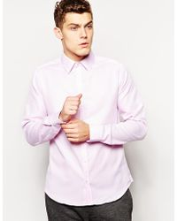 French connection Shirt Plain Oxford - Lyst