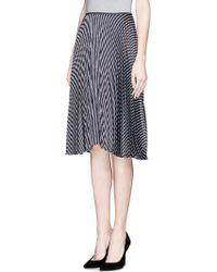 Theory 'Zeyn' Stripe Pleat Skirt - Lyst