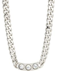 Balenciaga Embellished Id Necklace - Lyst