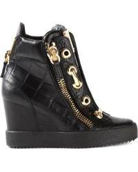 Giuseppe Zanotti Wedge High-Top Sneakers - Lyst