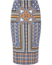 Emma Cook - Paisley Print Jersey Pencil Skirt - Lyst