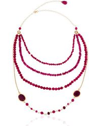Toosis Multi Layer Ruby Necklace - Lyst