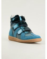Maison Martin Margiela Blue Hitop Sneakers - Lyst
