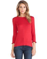 Kate Spade Red Bekki Sweater - Lyst