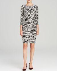 Anne Klein Dress Print Matte Jersey - Lyst
