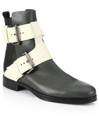 Pierre Hardy Leather Buckle Ankle Boots - Lyst