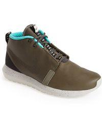Nike 'Roshe Run Premium' Water Resistant Leather Sneaker Boot - Lyst