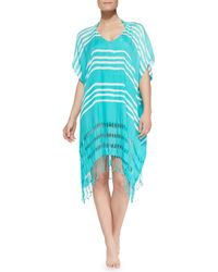 Seafolly Utopia Fringetrim Voile Coverup - Lyst