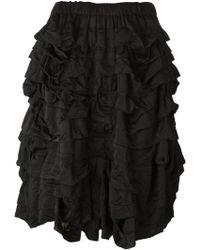 Comme des Garçons Ruffled Skirt - Lyst