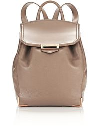 Alexander Wang | Prisma Backpack In Pebbled Latte With Rose Gold | Lyst
