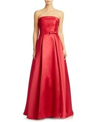 Xscape Strapless Evening Gown - Lyst