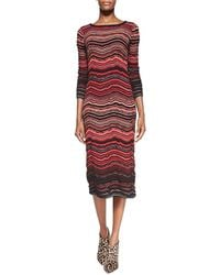 M Missoni Fancy Rippleknit Midcalf Dress - Lyst
