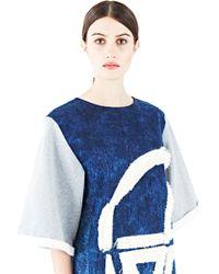 The Autonomous Collections - Women's Denim Sweat Dress In Indigo - Lyst