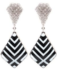 Miriam Salat Chevron Imperial Earrings - Lyst