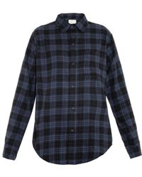 Current/Elliott The Prep School Plaid Shirt - Lyst