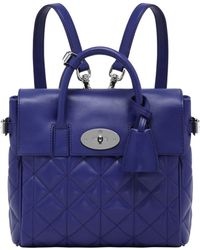 Mulberry Cara Delavigne Mini Leather Backpack - Lyst