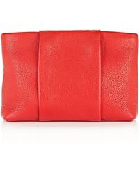 Alexander Wang - Dumbo Pouch In Pebbled Cult With Rhodium - Lyst